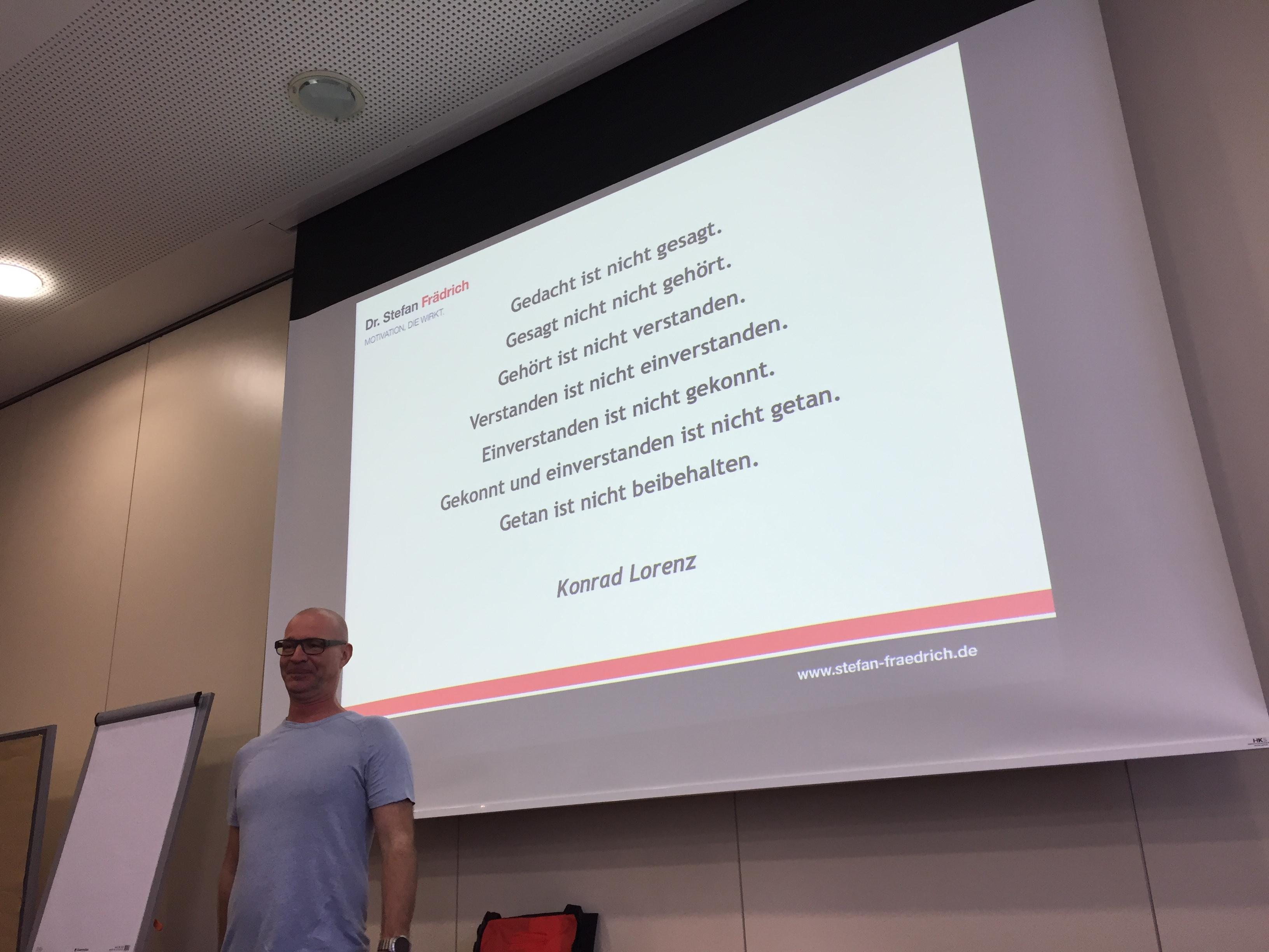 Mein Seminarjahr - Stefan Frädrich - Kommunikation - Konrad Lorenz